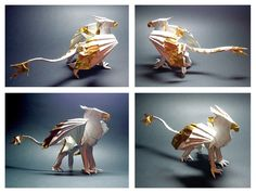 Origami griffon, I would love to learn how to make it someday.