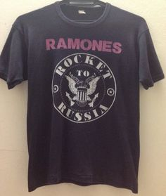 Rare Vintage Ramones Rocket To Russia Tour 1977 by VINTAGESHIRT