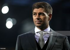 Steven Gerrard working as a pundit for BTSport before the Premier League match at The Hawthorns, West Bromwich.