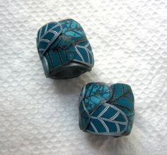 Dread Beads Teal Set of 2   You Choose Hole Size. $7.00, via Etsy. :: Shop DreadStop.Com for Leather Dreadlock Cuffs, Ties & Dread Beads #dreadstop