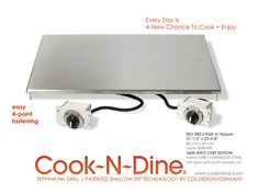 Merveilleux CND Built In Teppanyaki Grill Plancha Griddle Model MO E80.2 Dual Burner