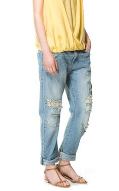 I really need a pair of ripped boyfriend jeans.