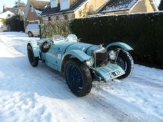 My 1929 Riley Brooklands in the snow