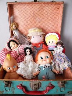 Vintage doll prop collection.