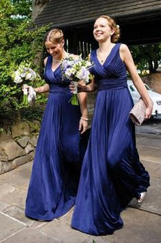 Bridesmaid Dresses Cheap, Dark Blue Bridesmaid Dresses, Prom Dress V-neck, Bridesmaid Dresses Blue, Chiffon Prom Dress Bridesmaid Dresses 2018 Dark Blue Bridesmaid Dresses, Blue Bridesmaids, Bridesmaid Gowns, Cheap Party Dresses, Prom Dresses, Dress Prom, Dress Long, Evening Dresses, Blue Party Dress