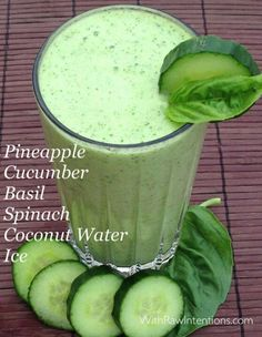 Spinach cucumber basik spinach coconut water green smoothie