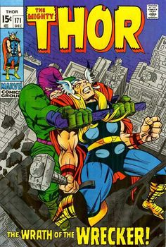 Thor #171, December 1969, cover by Jack Kirby and Bill Everett