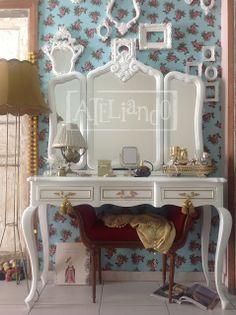Ateliando - Customização de móveis antigos: Galeria Penteadeiras Antigas  Modelo fabricado pelo atelier pra Ventura!