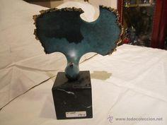 ESCULTURA DE JOSE LUÍS PEQUEÑO - ESPLENDOR - EN BRONCE SOBRE PEANA DE MÁRMOL. 20,5 CMS. ALTURA. (Arte - Escultura - Bronce)