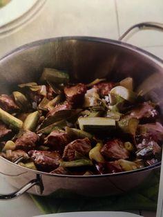 Μοσχάρι με κολοκυθάκια λεμονάτο (3 μονάδες) | Diaitamonadwn.gr
