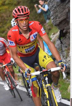 Alberto Contador (Tinkoff-Saxo) in the red jersey Photo credit © Tim de Waele/TDW Sport