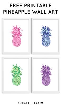 Free Printable Pineapple Wall Art From Chicfetti