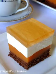 Polish Recipes, Mousse, Cheesecake, Dessert Recipes, Pie, Chocolate, Baking, Food, Resep Pastry