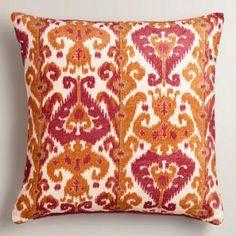 Orange and Pink Taza Throw Pillow