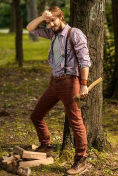 Lumberjack Style - more → http://fashiononlinepictures.blogspot.com/2013/03/lumberjack-style.html