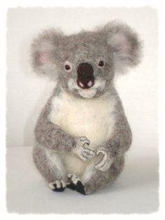 Ooak Needle Felted Koala von Ffly auf Etsy, $220.00
