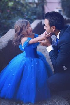 TOP Wedding Ideas From Said Mhamad Photography ★ top wedding idea spart 3 little girl and groom said mhamad photography Simple Flower Girl Dresses, Girls Blue Dress, Little Girl Dresses, Cinderella Dress For Girls, Girls Pageant Dresses, Flower Girls, Prom Dresses, Said Mhamad Photography, Girl Photography