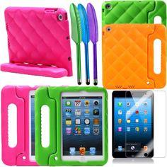 Fashion 5 Colors Kids Handle Shockproof EVA Foam Case Stand Cover FOR Ipad Mini | eBay