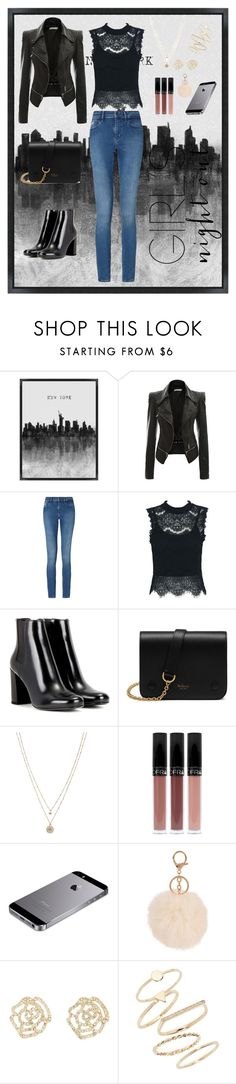 """""""Out and about in NYC."""" by fsfashion ❤ liked on Polyvore featuring Grandin Road, Calvin Klein, WithChic, Yves Saint Laurent, Mulberry, LC Lauren Conrad, Armitage Avenue, Charlotte Russe, BP. and girlsnightout"""