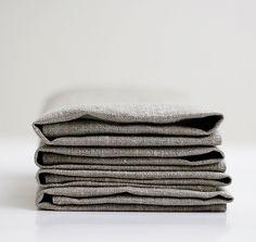 Natural Linen  napkin set of 4 classic color  18x18 inch size. $20.00, via Etsy.