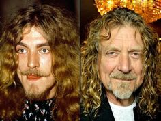 My favorite, Robert Plant then and now.  Don't you dare talk about him now, ya hear? :)