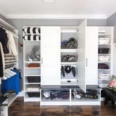Where style and hockey gear collide. Who knew it was possible? Storage done to fit your families needs.