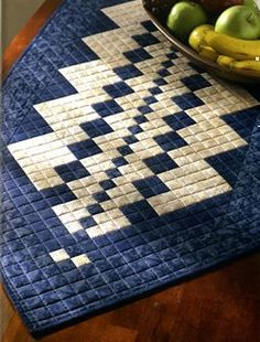 Inspires me to quilt a table runner like a Scrabble board