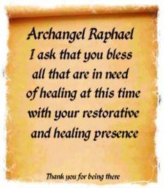 Prayer to Archangel Raphael in need of healing