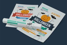 Halloween Party Poster, vol.2 by EverydayTemplate on @creativework247