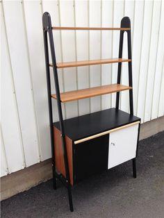 Teak Sideboard/Hylla TEMA med Svarta Gavlar - Retro 60-tal på Tradera.