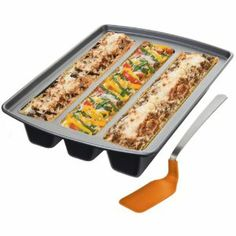 Chicago Metallic Lasagna Trio Pan- this is cool, can make 3 types of lasagna at a time, great for a party.