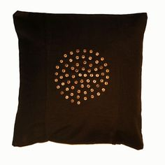 Scatter Cushion Cover with hand beaded design made on Likoma Island, Lake Malawi #homedecor #africahouse