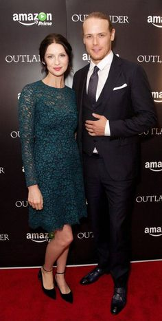 HQ pics of Caitriona Balfe, Sam Heughan and Ron D. Moore at the Premiere of Outlander in London   Outlander Online