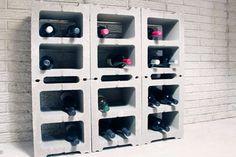 Cinder Block Wine Rack