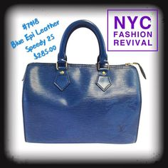 e4cc57d57d55 Epi leather blue Speedy 25 with low price  nycfashionrevival  like4like   style  lv