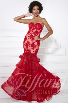 Tiffany Designs Prom Dress 16081 Long Gown - Everything4pageants.com