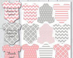 Baby Shower Mini Onesie Favor Thank You Gift by thelittledabbler