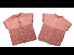 Жилет спицами для детей Зимний жилет на пуговицах wwwika crochet - YouTube