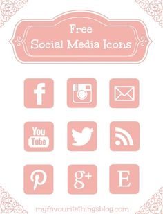Free Pink Social Media Icons via Hopeful Honey:
