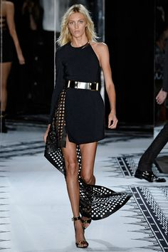 Anthony Vaccarello debuted his Versus line, and the Italian-based designer, known for his sophisticated brand of sexy, took spring in a very dark direction.