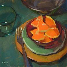 """""""Red Bowl - SOLD"""" - Original Fine Art for Sale - © Carol Marine"""