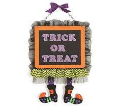 Trick or Treat Halloween Wall Hanging - With Love Home Decor