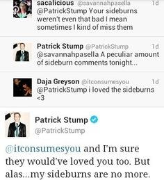 tweets fob fall out boy Patrick Stump