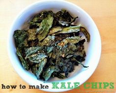 crispy, healthy kale chips