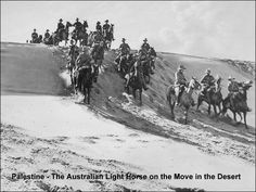 Palestine- The Australian Light Horse on the Move in the Desert. Source: Frank Hurley Photograph Collection. Jane Jones- Picasa