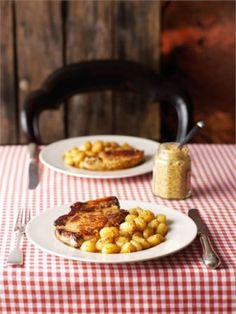 Mustard Pork Chops: This is possibly the easiest route to a proper, filling and yet strangely delicate dinner.  The pork is cooked just enough time to take away any pinkness but ensure tenderness within, and is gloriously scorched without.  The mustard, cider and cream add comfort and piquancy.