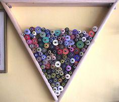 Cotton Thread Holder Wall Mount Handmade | eBay