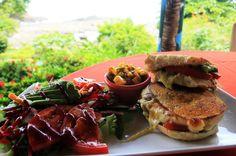 costa paraiso chicken pesto sandwich   - Costa Rica