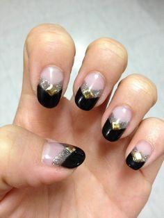 Black/silver nails...