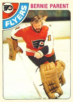 Hockey Cards, Baseball Cards, Bernie Parent, Hockey Hall Of Fame, Philadelphia Flyers, Parenting, Childcare, Natural Parenting